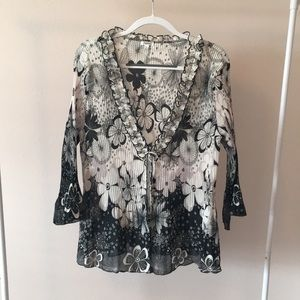 Cute Nicola Tie-front Blouse